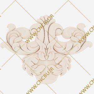 فایل طرح سه بعدی گل منبت کد 1