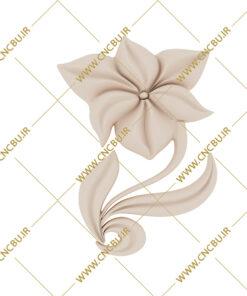 فایل طرح سه بعدی گل منبت کد 3