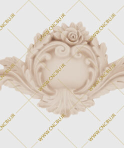 فایل طرح سه بعدی گل منبت کد 4