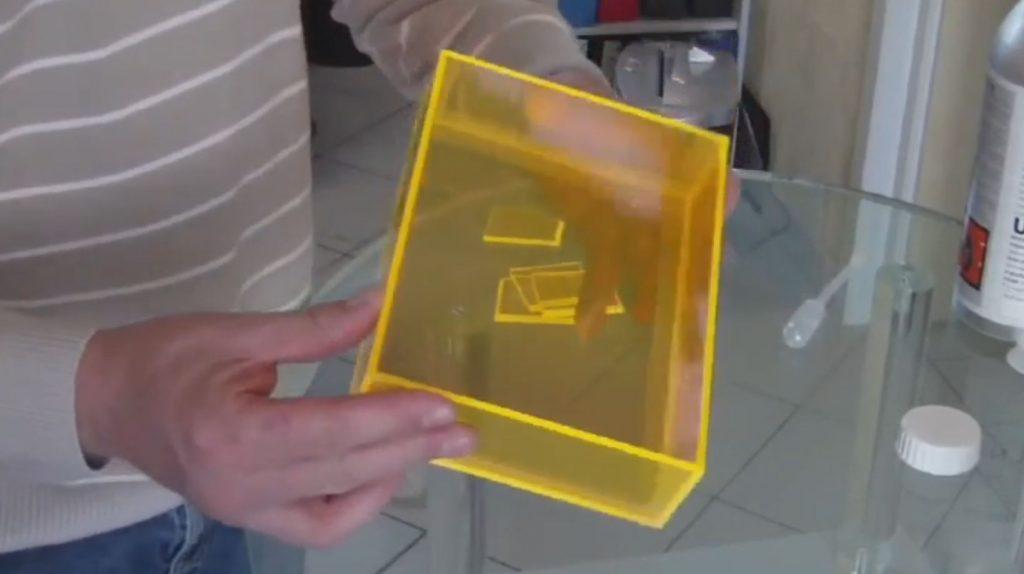 آموزش ساخت جعبه با پلکسی گلاس شفاف رنگی
