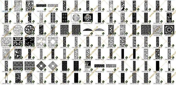 پک پانصد عددی پنل های دو بعدی ( وکتور ) شماره 3