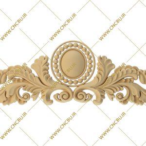 فایل طرح سه بعدی کتیبه گل منبت کد 2
