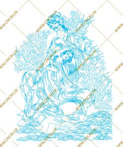 فایل طرح دو بعدی تابلو نگار گری لیزری کد 2