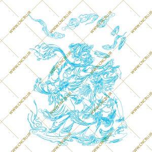 فایل طرح دو بعدی تابلو نگار گری لیزری کد 5