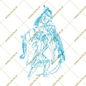 فایل طرح دو بعدی تابلو نگار گری لیزری کد 8