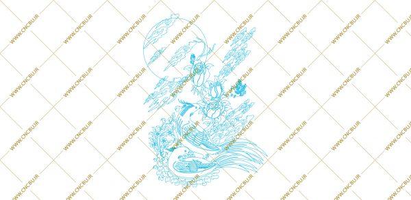 فایل طرح دو بعدی تابلو نگار گری لیزری کد 9