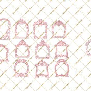 فایل طرح دو بعدی قاب آینه سی ان سی منبت (وکیوم) کد 1