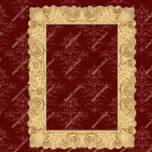 فایل طرح سه بعدی قاب آینه کد 3