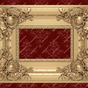 فایل طرح سه بعدی قاب آینه کد 5