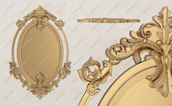 فایل طرح سه بعدی قاب آینه کد 6