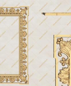 فایل طرح سه بعدی قاب آینه کد 7