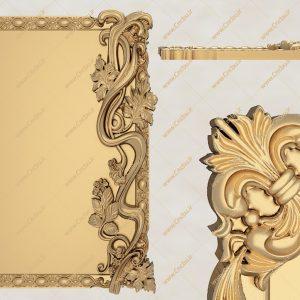 فایل طرح سه بعدی قاب آینه کد 8