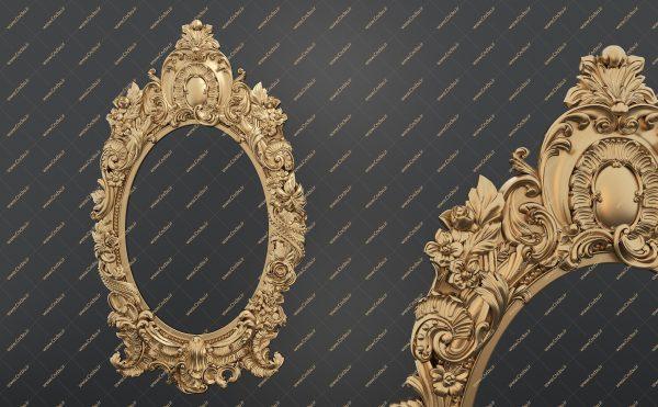 فایل طرح سه بعدی قاب آینه کد 11