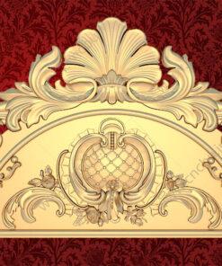 فایل طرح سه بعدی کتیبه گل منبت کد 3