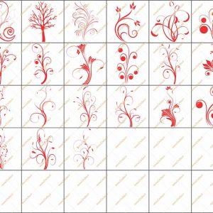 فایل طرح وکتور دو بعدی گل فانتزی برای دستگاه های سی ان سی و لیزر کد 1