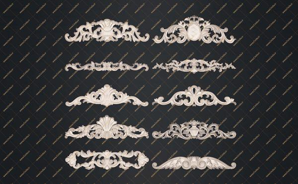 فایل طرح سه بعدی کتیبه گل منبت کد 4