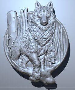 فایل طرح سه بعدی تابلو حیوانات کد 5