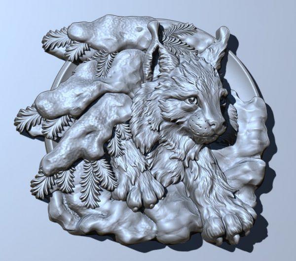 فایل طرح سه بعدی تابلو حیوانات کد 10