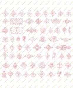 فایل طرح وکتور دو بعدی گل فانتزی برای دستگاه های سی ان سی و لیزر کد 2