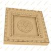 فایل طرح سه بعدی کتیبه گل منبت کد 5