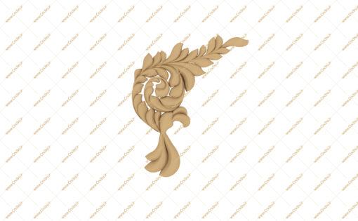 فایل طرح سه بعدی گل گوشه منبت کد 1