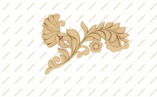 فایل طرح سه بعدی گل گوشه منبت کد 2
