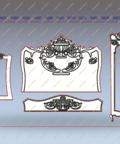 فایل طرح دو بعدی سرویس خواب همراه آینه کد 1