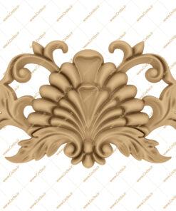فایل طرح سه بعدی کتیبه گل منبت کد 6