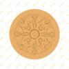 فایل طرح سه بعدی کتیبه گل منبت کد 7